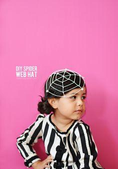 DIY Spider Web Hat