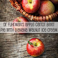 Dr Fuhrman's Apple Carrot Beet Pie with Banana Walnut Ice Cream Recipe