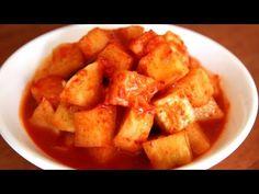 This is my favorite kind of kimchi! Cubed radish kimchi (kkakdugi: 깍두기)