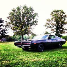 "Miss Mopar's 1972 Dodge Charger aka ""The Little Black Dress"". Facebook.com/MissMopar"