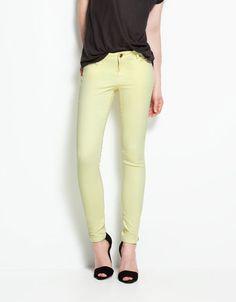 jean, pastel, green, colors, france, colored denim, trouser, lemon yellow, black