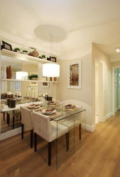 sala de jantar pequena espelhos - Pesquisa Google