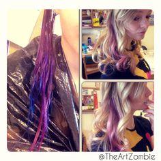 """Splat"" hair color."