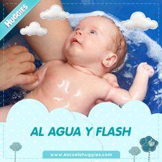 ¿Sacaste muchas fotos durante el primer baño de tu bebé? http://escuelahuggies.com/Historia/Consejos-de-seguridad-para-el-bano-del-bebe.aspx