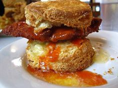 Chicken Biscuit at Pies 'N' Thighs (New York, NY). #UniqueEats #biscuit