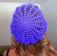 Free Crochet Pattern - Spider Web Slouchy Hat