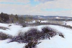 Pastel artists who inspire, at ArtistsNetwork.com  Winter's Trimmings (pastel) by William Truman Hosner