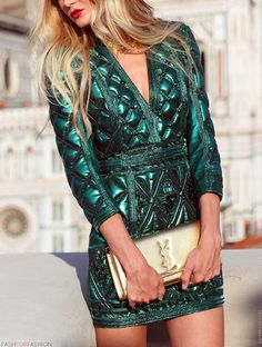 Emerald and gold #YSL