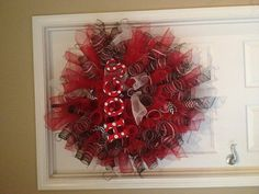 Arkansas Razorback Mesh Wreath