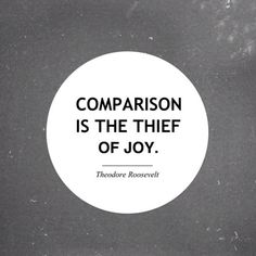 The truth about comparison.