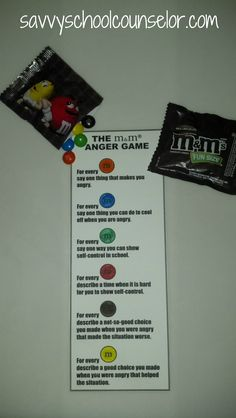 m and m anger game