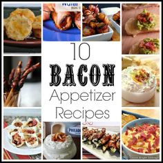 10 Bacon Appetizer Recipes—bacon will be the star of your holiday gathering with any one of these 10 bacon appetizer recipes. #appetizer #recipes #bacon