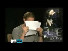 """Haha Ryan Gosling talking about, """"Hey Girl."""" Love this."""