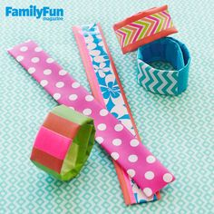 Slap It On: Give a slap bracelet a new look in a flash by covering it with colorful duct and electrical tape.