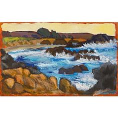 """Shell Beach, Sea Ranch"" by Ellen Levine Dodd, available at Serena & Lily. #serenaandlily"