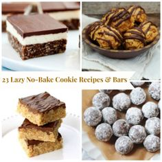 No-bake desserts are the best!  Here are 23 of our favorite cookie & bar recipes... enjoy!