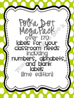 Classroom labels Lime Edition