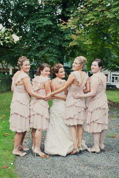 pretty bride and bridesmaids picture