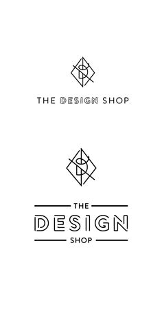 The Design Shop I love the logo design, because the surrounding diamond shape, the unique font of 'D', and a straight, but slightly not parallel line altogether look so unique! If I have to make my own fashion brand, I want to make one that looks like this one.
