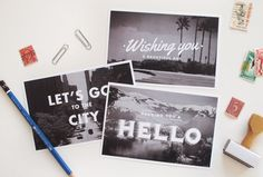 travel postcards $6