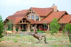 How funny is that art decor horse in the front of this home? Ribera, NM Coldwell Banker Trails West Realty, Ltd.