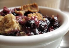 purple power blueberry crisp. | Sweet Girl Confections