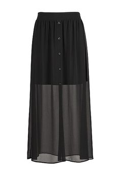 Chiffon button front maxi skirt (original price, $34) available at #Maurices