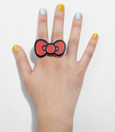 Hello Kitty Brass Knuckles Ring!