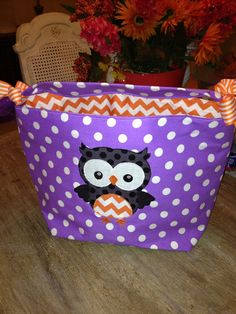 Ready to ship. Halloween Trick or Treat bag with fabric Applique ghost.  on Etsy, $20.00