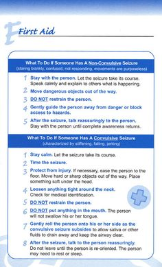 Seizure First Aid & some quick, interesting facts