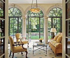 interior design, architectural digest, floor, window, pool, new homes, arches, sun room, sunroom