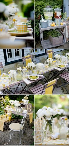 tea party shoot - lemon theme