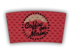 Coffee on the Mountain custom printed Java Jacket™ coffee sleeve.