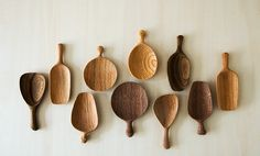 tea leaf, spoons, leaf server, teas, analogu life, tea scoop, wooden spoon, tatsuya aida, collect