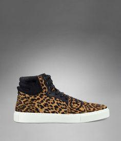YSL Malibu High-top Sneaker in Natural Leopard Printed Cowhide kick, leopard sneaker, ysl leopard, leopards, leopar sneaker, sneakers, hightop sneaker, shoe, natur leopard