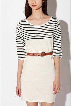 Sweater Stripe Boatneck Dress.  Urban Outfitters.