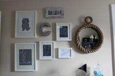 Project Nursery - Boy Nautical Nursery Gallery Wall