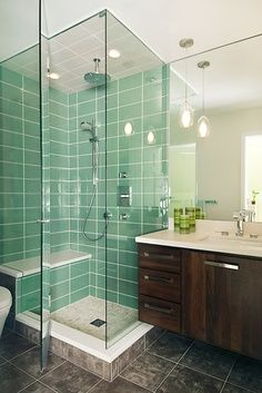 bathroom design...I love this shower!
