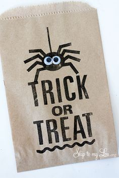 Spider Trick or Treat Favor Bag