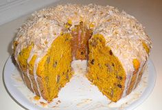 Pumpkin-Carrot Cake with Orange Glaze and Toasted Coconut #vegan