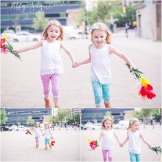 twins photo shoot downtown Michigan small business toddlers flowers sprispals abby jayne photography