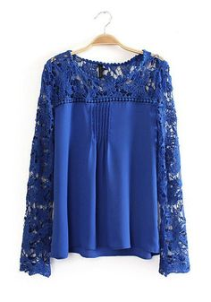 Royal Crochet + Chiffon Blouse