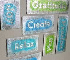 DIY Embossed Word Magnets Tutorial