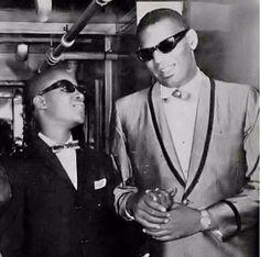 Stevie Wonder and Ray Charles