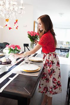 Floral Midi Skirt Tu