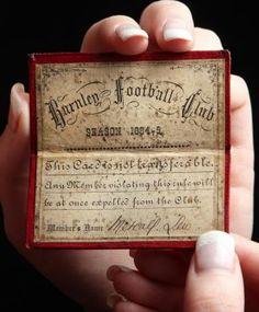 Burnley season ticket 1884/1885