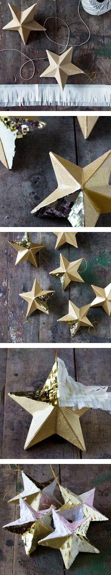 DIY Fringed Ornament Garland