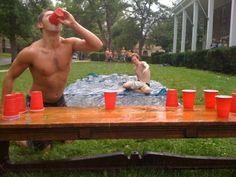 """slip cup."" run, slip, chug, & flip. I wanna play. Awesome summer drinking game."