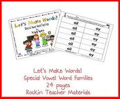 Let's Make Words -- special vowel families
