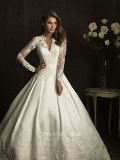 vestidos de novia con mangas de encaje
